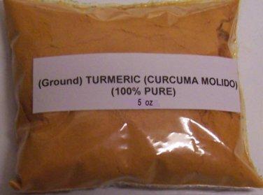 5 oz (140 grams) Ground Turmeric (Tumeric) POWDER Curcuma Molido, Gauri, Hald,i Indian Saffron