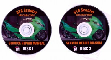 Scooter GY6 50cc 150 250cc GY6 Repair Manual Lancer ATM50-A1 Powermax Thunder GY50-A BMS SSR