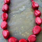 large chunk coral necklace