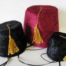 Fez Lodge hat for dogs - Burgundy for Medium Dog