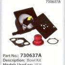 VLV TECUMSEH PARTS VECTOR CARBURETOR BOWL KIT 730637A