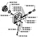 X-Ring Husqvarna 501288501 oiler oil pump part fits man