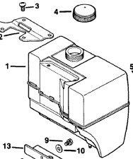 Kohler Fuel Gas Petrol Tank & Cap 41 721 03-s 25 173 03-s fits tiller pump more