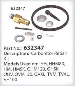 Tecumseh Carburetor REPAIR Kit HH OHV TVM HMSK80 HM70