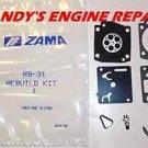 ZAMA RB-31 CARBURETOR REBUILD KIT FOR STIHL 034 036 036 PRO MS360 MS340 NEW