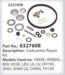 OEM Tecumseh Replaces 632760A, 632760, 632760B & 632809 Carburetor Repair Kit