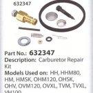 Carb Carburetor Rebuild Kit Tecumseh 632347 / 632622 fits HM70 HM80 HM90 HM100