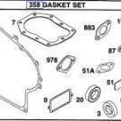OEM Briggs & Stratton, Craftsman Engine Gasket Kit Set # 391834, 492653 New