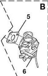 Carburetor w/ choke Homelite up05085 up05085a trimmer