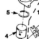 Homelite UP03037A Piston & Rod Kit Assy Sears, Craftsman Trimmer
