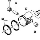 PISTON ASSEMBLY 85239 FIT + big OLD MCCULLOCH CHAINSAW