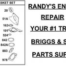 Gasket kit W/SEALS 495603 397145 OEM Briggs & Stratton