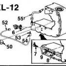 Homelite A59012 copper oil line XL12 chainsaw part