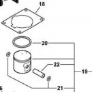 Echo P021014973 Piston Kit Assembly fits models listed w/ cylinder head gasket
