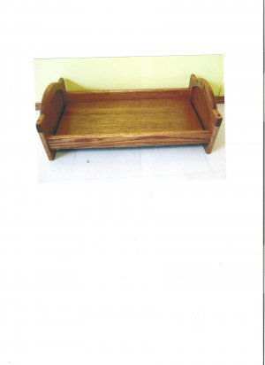 Wood Doll Bed