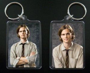 CRIMINAL MINDS Dr. Spencer Reid keychain / keyring MATTHEW GRAY GUBLER 4