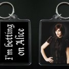 TWILIGHT NEW MOON keychain / keyring I'M BETTING ON ALICE 3