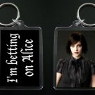 TWILIGHT NEW MOON keychain / keyring I'M BETTING ON ALICE 2
