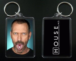 HOUSE MD keychain / keyring HUGH LAURIE Dr Greg House 2