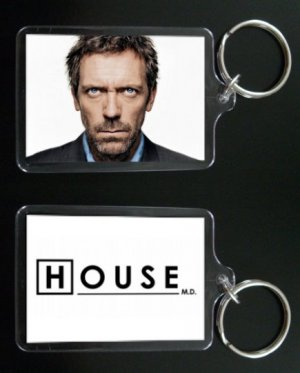 HOUSE MD keychain / keyring HUGH LAURIE Dr Greg House 4