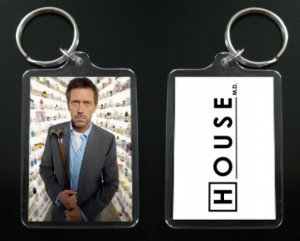 HOUSE MD keychain / keyring HUGH LAURIE Dr Greg House 3