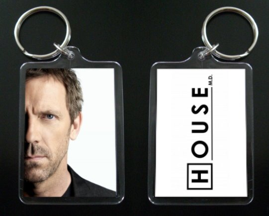 HOUSE MD keychain / keyring HUGH LAURIE Dr Greg House 5