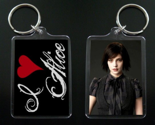 TWILIGHT NEW MOON keychain / keyring I HEART ALICE CULLEN Ashley Greene