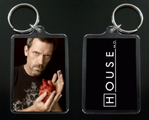 HOUSE MD keychain / keyring HUGH LAURIE Dr Greg House 7
