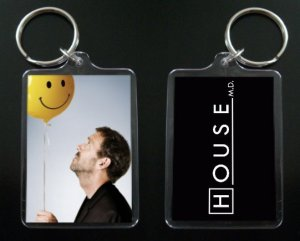 HOUSE MD keychain / keyring HUGH LAURIE Dr Greg House 10