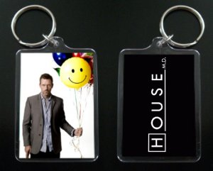 HOUSE MD keychain / keyring HUGH LAURIE Dr Greg House 11