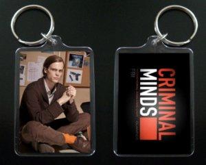 CRIMINAL MINDS Dr. Spencer Reid keychain / keyring MATTHEW GRAY GUBLER 6