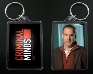 CRIMINAL MINDS keychain / keyring JASON GIDEON Mandy Patinkin 1