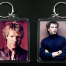 JON BON JOVI 2-sided photo keychain / keyring 3