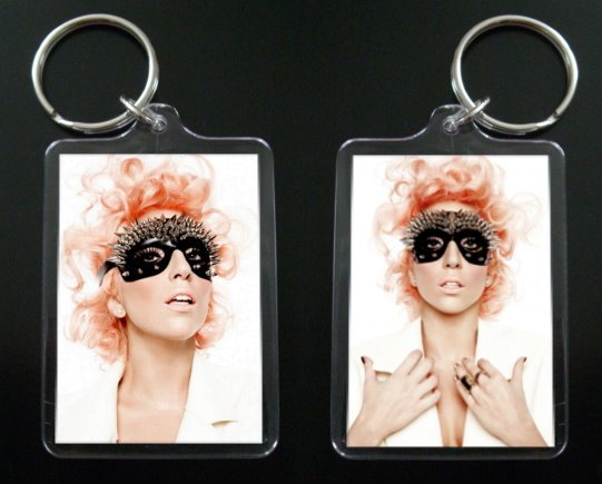 LADY GAGA 2-sided acrylic keychain / keyring Bad Romance #1