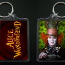 ALICE IN WONDERLAND keychain / keyring MAD HATTER Johnny Depp