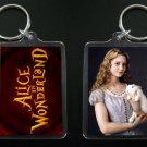ALICE IN WONDERLAND keychain / keyring Mia Wasikowska