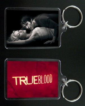 TRUE BLOOD keychain / keyring BILL COMPTON and SOOKIE STACKHOUSE