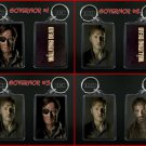 THE WALKING DEAD keychain / keyring THE GOVERNOR & RICK - CHOOSE FROM 4 DESIGNS