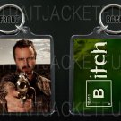 BREAKING BAD keychain / keyring JESSE PINKMAN Aaron Paul BITCH 2