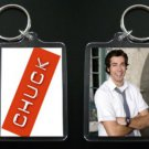 CHUCK two-sided keychain / keyring ZACHARY LEVI #1