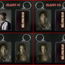 THE WALKING DEAD keychain / keyring GLENN & MAGGIE - CHOOSE FROM 4 DESIGNS