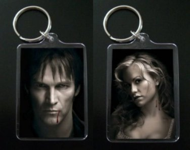 TRUE BLOOD keychain keyring BILL and SOOKIE STACKHOUSE