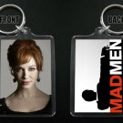 MAD MEN keychain / keyring JOAN HARRIS Christina Hendricks