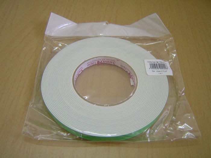 Double sided foam tape for craft or general 18mmx10y for Double sided craft tape