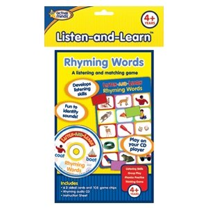 Listen and Learn Rhyming Words Match Game by Active Minds