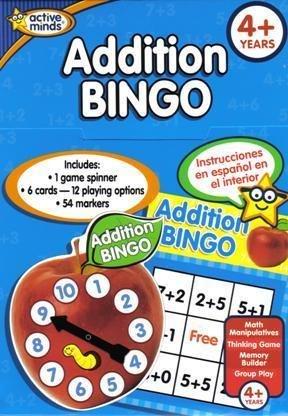 Learning Games Addition Bingo