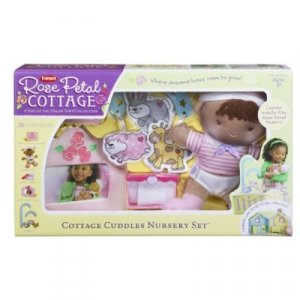 Playskool Rose Petal Cottage Cuddle Nursery Set - African American