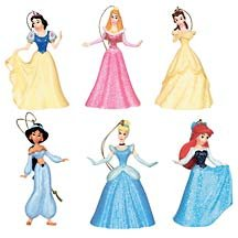 Disney Store Disney Princesses Storybook Ornaments NEW