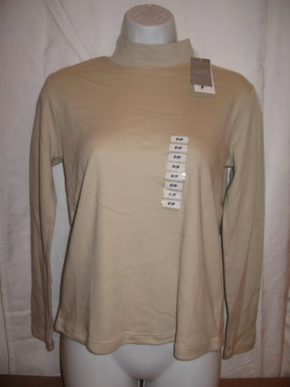 Brand New turtle neck neutral color Women's shirt from CHARTER CLUB, size PP