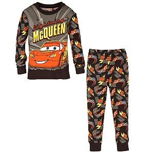 NEW Disney Store CARS Lightning McQueen Pajamas PJ size 8